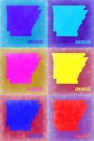 Arkansas Pop Art Map 2 Fine Art Print