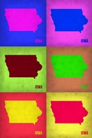 Iowa Pop Art Map 2 Fine Art Print