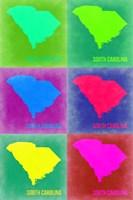 South Carolina Pop Art Map 2 Fine Art Print