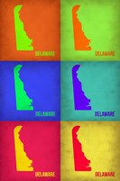 Delaware Pop Art Map 1 Fine Art Print