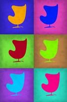 Egg Chair Pop Art  2 Fine Art Print