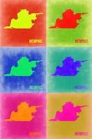 Memphis Pop Art Map 3 Fine Art Print