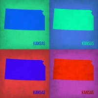 Kansas Pop Art Map1 Fine Art Print