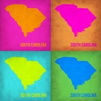 South Carolina Pop Art Map 1 Fine Art Print