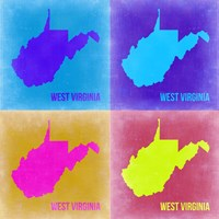 West Virginia Pop Art Map 2 Fine Art Print