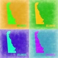 Delaware Pop Art Map 2 Fine Art Print