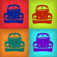 VW Beetle Front Pop Art 1 Fine Art Print