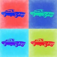 Ford Mustang Pop Art 2 Fine Art Print