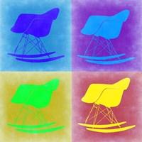 Eames Rocking Chair Pop Art 1 Fine Art Print