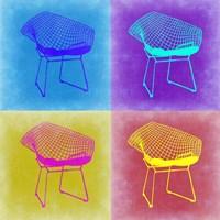 Brickel Chair Pop Art 2 Fine Art Print