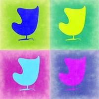 Egg Chair Pop Art 1 Fine Art Print