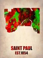 Saint Paul Watercolor Map Fine Art Print
