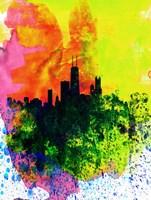 Chicago Watercolor Skyline Fine Art Print