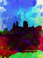 Cincinnati Watercolor Skyline Fine Art Print