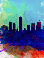 Indianapolis Watercolor Skyline Fine Art Print