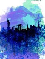 New York  Watercolor Skyline 2 Fine Art Print