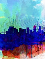 Portland Watercolor Skyline Fine Art Print