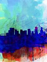 Portland Watercolor Skyline Fine Art Print