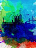 San Francisco Watercolor Skyline 2 Fine Art Print