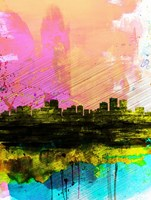 Anchorage Watercolor Skyline Fine Art Print