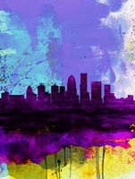 Louisville Watercolor Skyline Fine Art Print