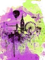 London Watercolor Skyline 1 Fine Art Print