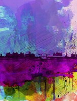 Amsterdam Watercolor Skyline Fine Art Print