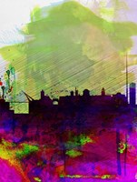 Dublin Watercolor Skyline Fine Art Print