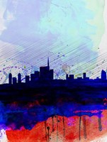 Milan Watercolor Skyline Fine Art Print