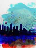 Sydney Watercolor Skyline Fine Art Print