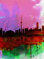 Toronto Watercolor Skyline Fine Art Print