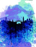 Venice Watercolor Skyline Fine Art Print