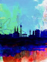 Vienna Watercolor Skyline Fine Art Print