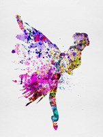 Ballerina on Stage Watercolor 3 Fine Art Print