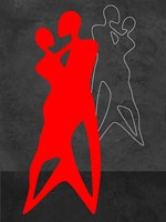 Red Couple Dance Fine Art Print