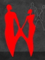 Red Couple 2 Fine Art Print