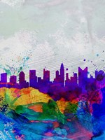 Columbus Watercolor Skyline Fine Art Print