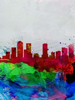 Denver Watercolor Skyline Fine Art Print