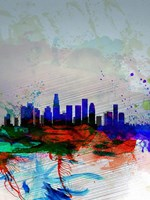 Los Angeles  Watercolor Skyline 1 Fine Art Print