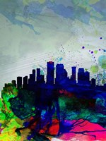 New Orleans Watercolor Skyline Fine Art Print