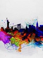 New York  Watercolor Skyline 1 Fine Art Print