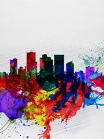 Phoenix Watercolor Skyline 2 Fine Art Print