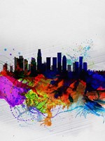 Los Angeles  Watercolor Skyline 2 Fine Art Print