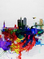 San Francisco Watercolor Skyline 1 Fine Art Print