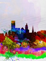 Providence Watercolor Skyline Fine Art Print