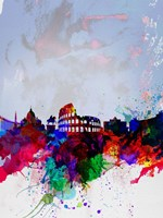 Rome Watercolor Skyline Fine Art Print