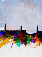 Stockholm Watercolor Skyline Fine Art Print