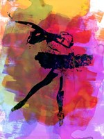 Black Ballerina Watercolor Fine Art Print