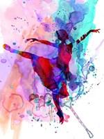 Ballerina's Dance Watercolor 1 Fine Art Print