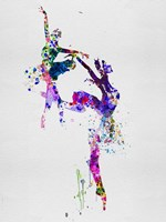 Two Ballerinas Dance Watercolor Fine Art Print
